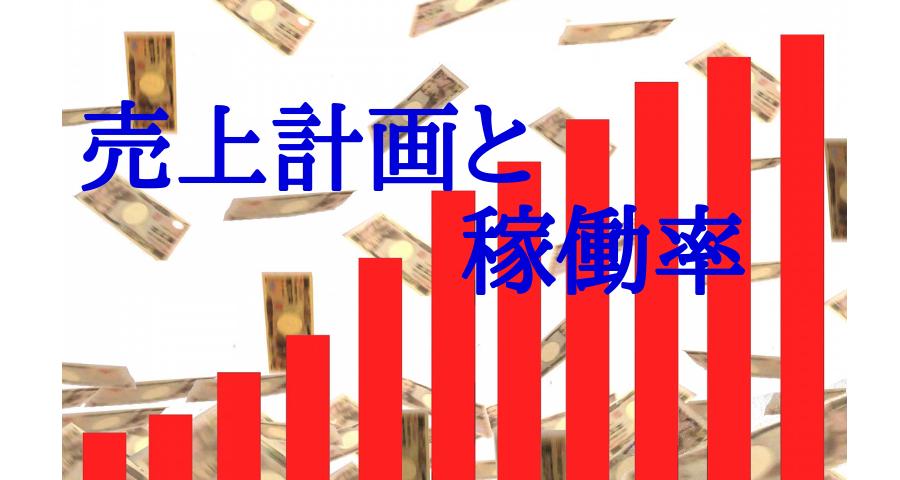 売上計画と稼働率と経費